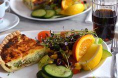 Broccoli Quiche & Salad