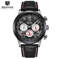 Relogio Masculino BENYAR Fashion Chronograph Sport Mens Watches Top Brand Luxury Quartz Military Watch Male erkek kol saati