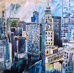 Chicago. Cityscapes - Blank Canvas