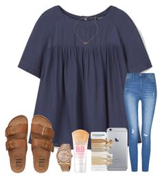 """((:"" by arieannahicks on Polyvore featuring MANGO, Billabong, Kendra Scott, Rolex and Maybelline"
