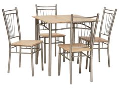 Farrington Dining Set with 4 Chairs Ebern Designs - Size: Small Buy Bedroom Furniture, Dining Furniture, Modern Furniture, Outdoor Furniture Sets, Buy Dining Table, Table And Chairs, A Table, Dining Sets, Dining Room