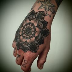 tattoo ideas hand tattoos hands body art tattoo s tattoo design . Mandala Tattoo Mann, Mandala Hand Tattoos, Mandala Tattoo Design, Flower Tattoo Designs, Geometric Tattoos, Tattoo Hals, Arm Tattoo, Sleeve Tattoos, Trendy Tattoos