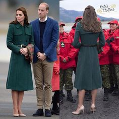 The #DuchessofCambridge recycled her beautiful Persephone coat from #Hobbs yesterday in #Whitehorse, #Yukon. She carried the Maple Leaf #tartan, too.  #katemiddleton #duchesskate #princesskate #princewilliam #canada