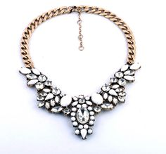 New Arrival Gold Alloy Pendant Nekclace With Artifical Gemstone And Crystal  - New In