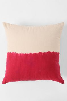 Magical Thinking Dip-Dye Pillow - A few of these are all I need to transform my bed into a day-bed for hanging out with friends.