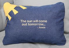The Sun Will Come Out Tomorrow  Annie Pillow by wishesdesignstudio, $22.50