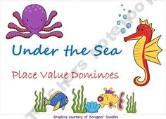 Under the Sea Place Value Dominoes - Tens and Ones
