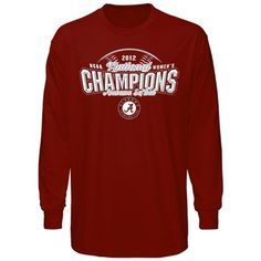 Alabama Crimson Tide 2012 NCAA Women's Softball College World Series Champions Long Sleeve T-Shirt - Crimson $24.95