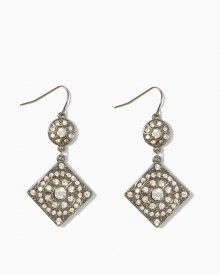 Circle Gets the Square Pavé  Earrings also at Charming Charlies