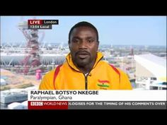 Rapahel Botsyo talks to #BBC World News about his journey and the reason the #Paralympics is so important to him
