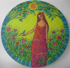 Balance Forgotten by Sonia Koch Pagan Art, Shape Art, Naive Art, Painting & Drawing, Rock Painting, Painted Rocks, Mother Nature, Beach Mat, Disney Characters
