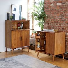 Mid-Century Bar Cabinet - West Elm :: Small is $800, Large is $1000