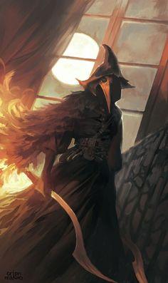 Eileen The Crow, Fantasy Characters, Fantasy, Painting, Art, Fan Art, Bloodborne