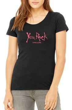Love This Life You Rock Manifesto Crew Tri-Blend Tee - Heather Black