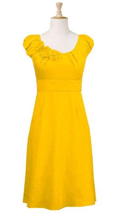 hubby told me he likes me in yellow so i want to start trying out yellow things.. i really like this dress    eshakti.com