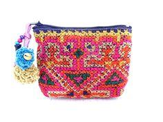 Tiny Coin Pouch Bag Purse Hill Tribe Fabric Vintage HMONG Hemp Handmade Thailand (BG290VS.603). $3.99, via Etsy.