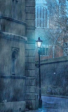 Winter Rain Cambridge England