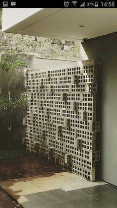 Super Ideas For Brick Screen Facade Concrete Blocks Brick Design, Concrete Design, Facade Design, Wall Design, Exterior Design, House Design, Brick Facade, Brick Wall, Brick Architecture