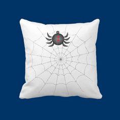 The Spider's Den Throw Pillow by fstasu55