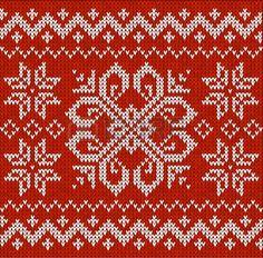 Roja Navidad sin fisuras patr�n de bordado ornamental photo