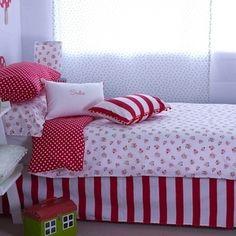 Single Duvet Set - Berry + Red Spot