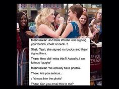 Kate Winslet & Shailene Woodley ❤️