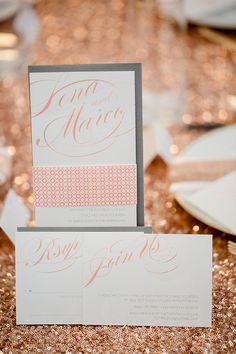 calligraphy wedding invite