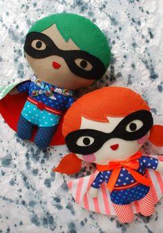 Download Superhero Soft Toy Sewing Pattern (FREE)