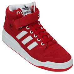 adidas forum mid unisex red