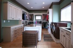 The perfect thing. The closet and the laundry room all in one. Gotta have it!