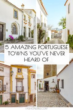 Discover 5 hidden gems in Portugal! This travel guide lists the top 5 towns in the beautiful Alentejo region of Portugal that's known for its delicious food and medieval villages. Portugal Destinations, Best Places In Portugal, Portugal Vacation, Road Trip Destinations, Visit Portugal, Portugal Travel, Spain And Portugal, Portugal Trip, Lisbon Portugal