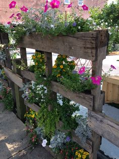 Creative planter using a pallet. Saw this in Lancaster City, PA