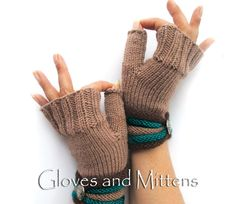 With love knitted fingerless gloves, which not only will warm your hands, but will also be an expressive accessory. A must-have fashion accessory, great gift idea. Gloves are unique in that they can be wear on both sides. With the deletion of the part of both the top of the well bottom. As if you receive two gloves for one price!  • Size: S / M • Hand wash at 30C/86F • Materials: wool and acrylic yarn • This item is ready to ship. • Please note that real colours may differ depending on…