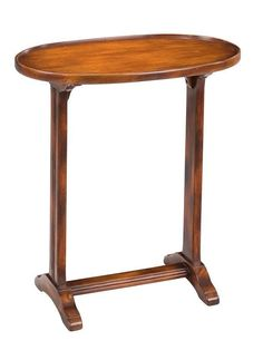 Oval Side Table Made From Solid Walnut Natural Finish Free Shipping #Traditional