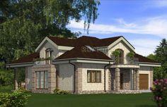 Проект одноэтажного дома с мансардой и подвалом Rg4913