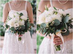Beth + Justin - Mad Dash Weddings Blog | wedding bouquet | white wedding flowers