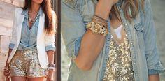 Paetê + Jeans