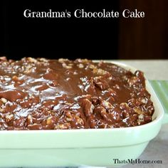 Grandma's Chocolate Cake from Recipes, Food and Cooking