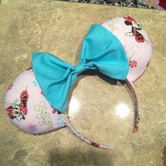 This listing is for one made-to-order beautiful Little Miss Mouse Ears headband! These are perfect for anyone who loves all things magical!