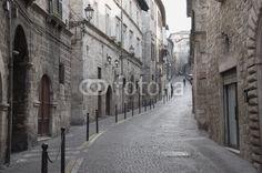 Ascoli Piceno, via Pretoriana beautiful street downtown the city