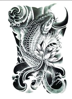 Realistic Koi Tattoo/Large Size