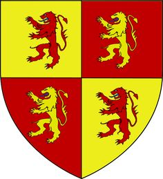 Owain Glyndŵr, the last native Prince of Wales (crowned 1400), bore the arms of Powys and Deheubarth quartered