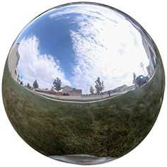 Sparkling stainless steel reflects its surroundings beautifully. These stainless steel gazing balls won't shatter like glass gazing balls and they are spherical so there is no stem or neck protrudin...