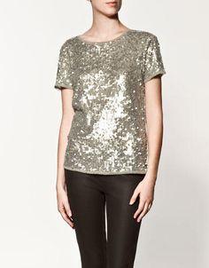 Zara sequin T-shirt