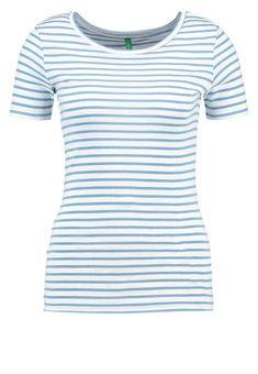Benetton T-shirt z nadrukiem - light blue za 41,3 zł (28.02.18) zamów bezpłatnie na Zalando.pl.