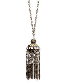 Bar III Necklace Arabian tassel pendant $30 #fashion #accessories #jewelry #necklace #pendant #arabian #style #stylish #chic #gift #valentine #valentines #for her #romantic #antique #ornate #gold #trendy