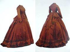 Day dress, Worth & Bobergh, ca. 1867-70. Museo de la Moda, Santiago, Chile, via The Dreamstress