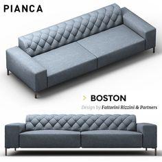 3D Boston Sofa Model - 3D Model