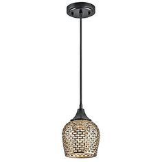 Annata Black Material One Light Mini Pendant With Gold Ceramic Shade Stem Mini Pendant Li