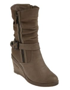 Every shoe collection needs a reliable boot. These Debby Mid-Calf Boots by Bronx will instantly become your boot of choice this winter. A comfortable, 8cm, wedge heel adds length and definition to your legs, while the sturdy, rubber heel is almost completely non-slip, making this boot ideal for dashing about. Wear these with bootleg denims and a chunky knit polo neck for a casual winter look.